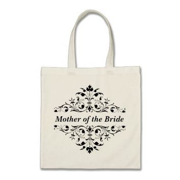 Vintage Ornament Mother Wedding Tote Bag