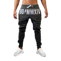 High Quality Brand Clothing Jogger Pants Men Fitness Bodybuilding Pants For Runners  Autumn Sweat Trousers Britches BK05