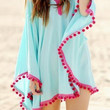 Azure Chiffon Beach Cover-Up