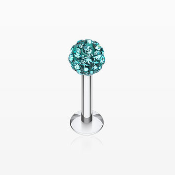 Multi-Gem Sparkle Ball Steel Labret