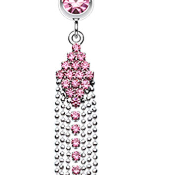 Sparkle Showers Belly Button Ring