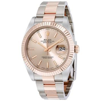 Rolex Datejust 41 Sundust Dial Steel and 18K Everose Gold Mens Watch 126331SNSO