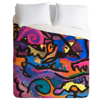 Fresh Artists Wild Ride Duvet Cover