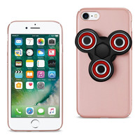 Reiko REIKO IPHONE 7/ 6/ 6S CASE WITH LED FIDGET SPINNER CLIP ON IN ROSE GOLD