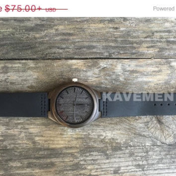 SALE Wood Watch. Mens Black Wood Watch. Engrave Watch. Personalized Watch. Brooklyn. Wood Watch. Wood Watches. Wood Watch Men. Mens wood wat