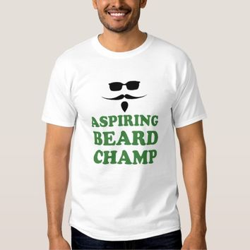 Aspiring Beard Champ White T-shirt Man