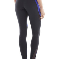 Michi Activewear Supernova Designer Leggings - Indigo and Black