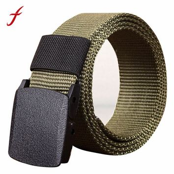 FEITONG Men's Military Tactical Belt Man's Canvas Waistband Army Webbing Belt Dazzling High Quality Nylon Strap