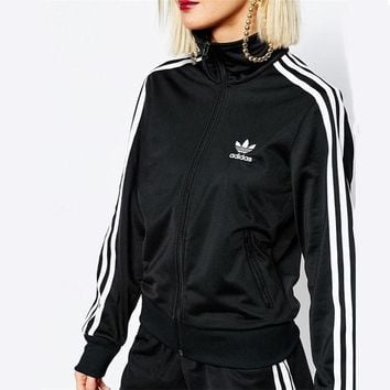 """Adidas"" Women Men Fashion Zip Cardigan Jacket Coat Sweatshirt Jacket B"