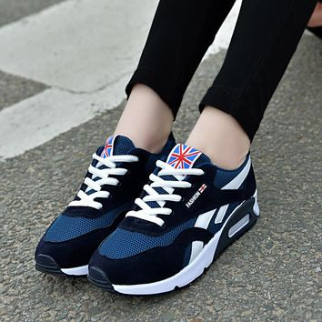 2018 New Women Vulcanized Shoes Fashion Sneakers Women Lace-up Casual Shoes Breathable Walking Canvas Shoes Women Flat Shoes