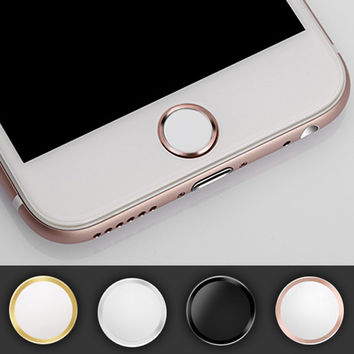 New Touch ID Home Button Sticker For iPhone 5 5s SE 6 6s Plus Supporting Touch ID # F1579