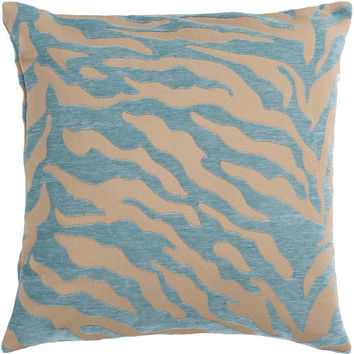 Velvet Zebra Patterned Decorative Pillow - Home Decor | Surya