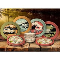 Complete Camping Melamine - 12 Piece Dish Set