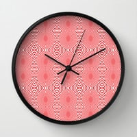 Pussy Pattern Wall Clock by Rui Faria | Society6