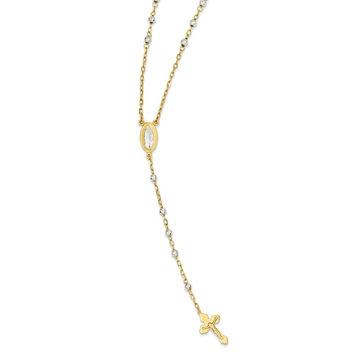 14k Two-Tone Gold Rosary Necklace