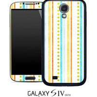 Vintage Striped And Dotted Skin for the Samsung Galaxy S4, S3, S2, Galaxy Note 1 or 2