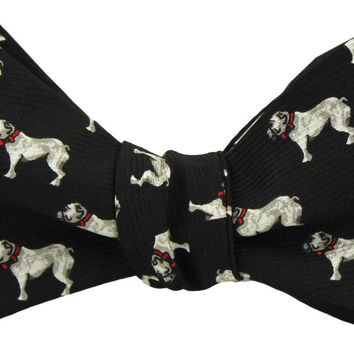 Bulldog Bow Tie in Black by Southern Proper