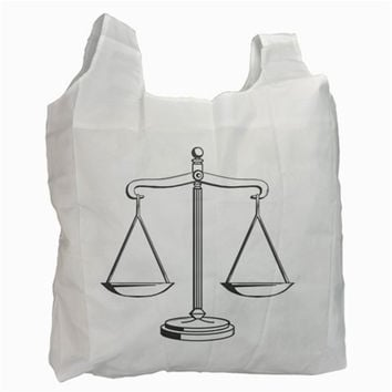 Scales of Justice (bw) Recycle Bag (One Side)