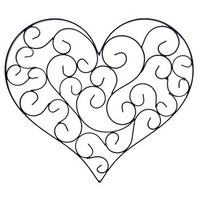 Black Heart Shaped Metal Wall Decor with Scrolls | Shop Hobby Lobby