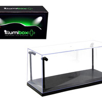 Collectible Display Show Case with LED Lights for 1-18 1-24 Models with Black Base by Illumibox