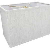 0-001289>Rectangular Drum Lampshade (8x14) (8x14) x 10 Textured Oatmeal