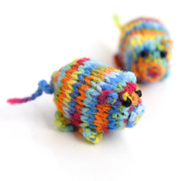 Cute colorful piggy toy, rainbow colors, little pigs stuffed toy, soft handknit toy, safe eyes, washer safe toy