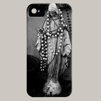 Virgin Mary iPhone Case iPod Touch 5c 5s 4 4s 3g 3gs Madonna Religious Statue Hard Phone Cover New Orleans Fine Art Photography Unique Gift