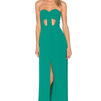 NBD x Naven Twins Weekend Stay Maxi Dress in Sea Green