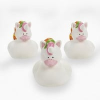 UNICORN RUBBER DUCKIES (1 DOZEN) - BULK