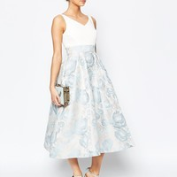 Coast Alessia Midi Dress in Pale Blue at asos.com