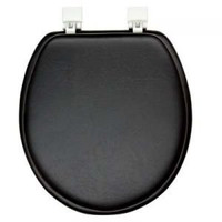 Achim Home Furnishings TOVYSTBK04 17-Inch Fantasia Standard Toilet Seat, Soft Black