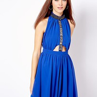 River Island Gem Embellished Soft Dress