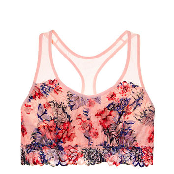 Floral Lace Crop - PINK - Victoria's Secret