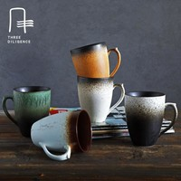 Pottery coffee mug tea cup beer cups and mugs with handgrip Pottery cup Japanese style ceramic tea cups cute swig cerveja