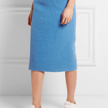 Max Mara - Textured alpaca and silk-blend midi skirt