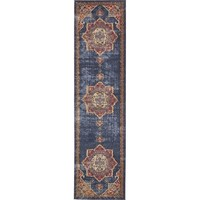 Nathanson Blue/Red Area Rug