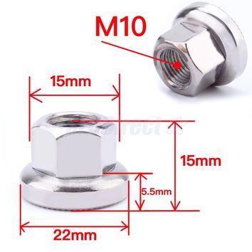 Track Nuts Bicycle Wheel BMX Fixie Axle Vintage Old School for Rear Hub M10 Stainless Steel Material DIY Modified Accessories