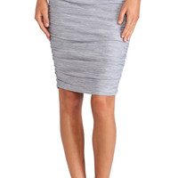 Splendid Space Dyed Jersey Skirt in Gray