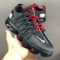 "Nike Air VaporMax Utility ""Black Red"" Men Running Shoes - Best Deal Online"