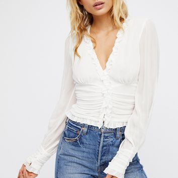 Free People Smell The Roses Blouse