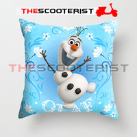 "Olaf Flower Style - Pillow Cover 18"" x 18"" - One Side"