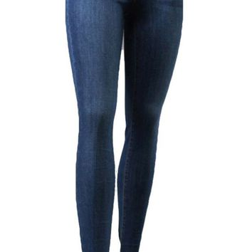 VONEW3J Flying Monkey High Rise Skinny Jeans Medium Blue