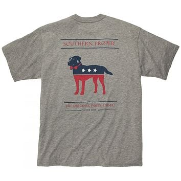 Party Animal Tee in Grey by Southern Proper