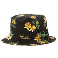 Obey Sativa Black Floral Bucket Hat