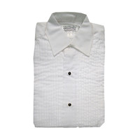 "Women's Tuxedo Shirt With Lay Down Collar and 1/4"" Pleats"