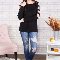 Warms My Heart Cutout Sweater- Multiple Options