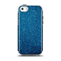 The Blue Sparkly Glitter Ultra Metallic Apple iPhone 5c Otterbox Symmetry Case Skin Set
