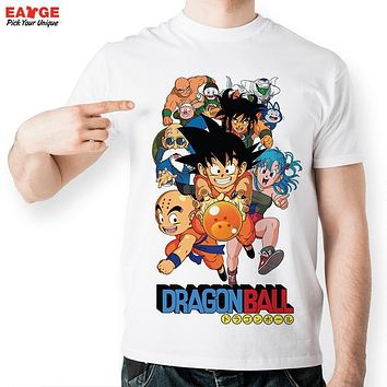 [EATGE] Fashion Anime T Shirt Dragon Ball Z Comics T-shirt Young Characters Tshirt Style Cool Printed Unisex Tee