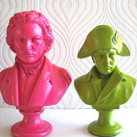 Beethoven Bust Statue in hot pink