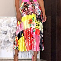 VERSACE Summer Newest Fashionable Women Personality Print Skirt